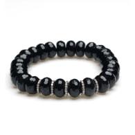 Onyx Diamond Beaded Bracelet image