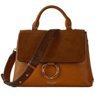 India Hazelnut Top Handle Crossbody Bag image