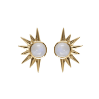 Total Eclipse Studs - Gold Moonstone image