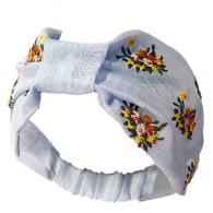 Pastel Embroidered Organza Headband image