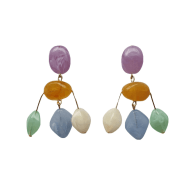 Mini Cascade Earrings In Pastel image