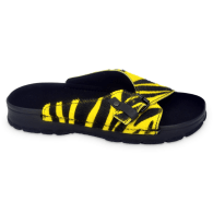 Rome Slip On Sandals - Yellow Zebra Limited Edition image