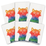 Positivity Cat Cards Pack Of 6 image