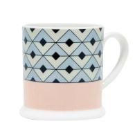 Tile Blush & Duck Egg Espresso Cup image