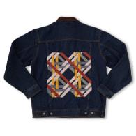 Vintage Embroidered Denim Jacket 'Tweed Bow' by Duo-Hue image