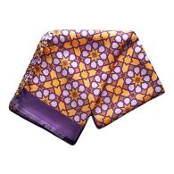 Silk Scarf in Mosaic Pattern - Yellow & Orange image