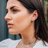 Dorothy Hoop Earrings- Silver image