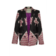 The Madrid Silk-Cotton Ikat Print Blazer image