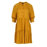 Loose Dark Mustard Ruffle Dress image