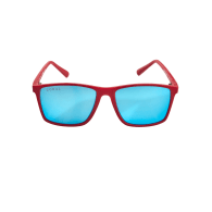 Vaquita Polarised Mirrored Recycled Sunglasses In Red & Blue image