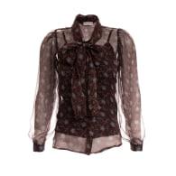 Chocolate Patterned Silk Shirt image