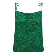 Reversible Freya Top - Flecked Emerald/Flecked Sapphire image