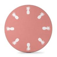 Round Pineapple Placemat Rose Pink - Set of 4 image