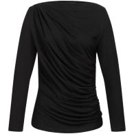 Draped Shirt - Black image