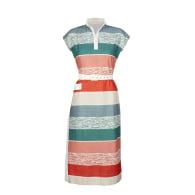 Cyd - Beach Stripe Dress   Cotton - Linen Blend image