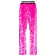 Unisex Crushed Velvet Pant In Hot Pink image