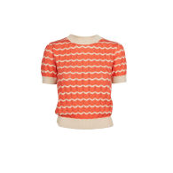 Eve - Coral Waves Knitted Top - Organic Cotton image