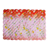Quilted Cotton Placemat - Pink/Orange Ombre image