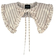 Beige Cotton Aurora Collar With A Frill image