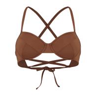 Amalfi Classic Adjustable Bikini Top - Burnt Umber image
