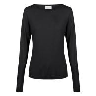 Marseille Long Sleeve Rayon Tee - Black image