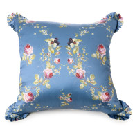 Silk Cushion In Blue Satin Belle Époque image