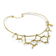 Amarres Choker In Gold-plated image