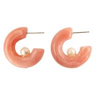 Pearly Hoop In Pink image