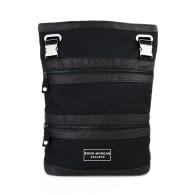 Seven In One Bag - Vegan Leather Regenerated Nylon – Black image