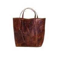 Rachel Leather Tote Bag (Oil Brown) image