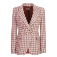 Pink Houndstooth Blazer Toscana image