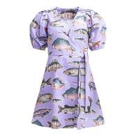 Pointy Puff Sleeve Dress Big Fish image