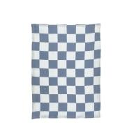 Azure Checkerboard Tea Towel image