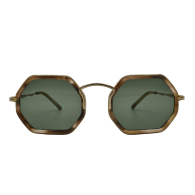 Pch Brown Hexagonal Sunglasses image