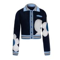 Navy Blue Knitwear One Love Cardigan image