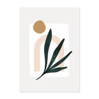 A2 Palm Leaf Green Art Print image