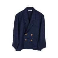 Navy Linen Suit image
