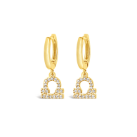 Libra 18k Gold Vermeil Zodiac Star Sign Earrings image