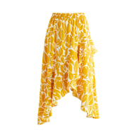Floral Frill Skirt In Yellow & White image