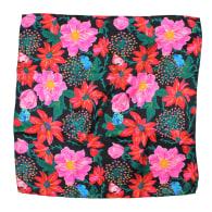 Pink Dahlias Silk Scarf image