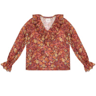 Jabot Blouse With Frills & Golden Threads image
