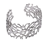 Metis Silver Coral Bangle image