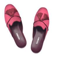 Villa Handmade Satin Slippers - Red image