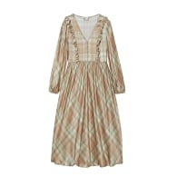 Orange Cream High Tea Printed Silk - Satin Sleep Dress image