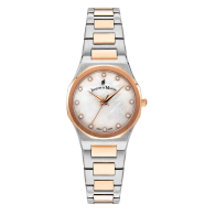 Jacques Du Manoir Swiss Made Viola Watch 28mm Rose Gold Two Tone Case And Bracelet image