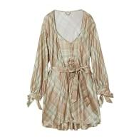 Orange Cream High Tea Printed Silk-Satin Robe & Slip Set image