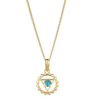 Throat Chakra Necklace - Gold image