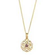Crown Chakra Necklace - Gold image