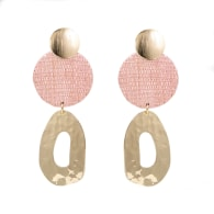 The Georgina Blush Pink Upcycled Handcrafted Statement Earrings image