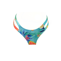 Riocinha - Blue /Green with Abstract Colorful Pattern Cheeky Style Bottom image